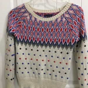 AMERICAN EAGLE  Nordic Red White Blue Sweater XS